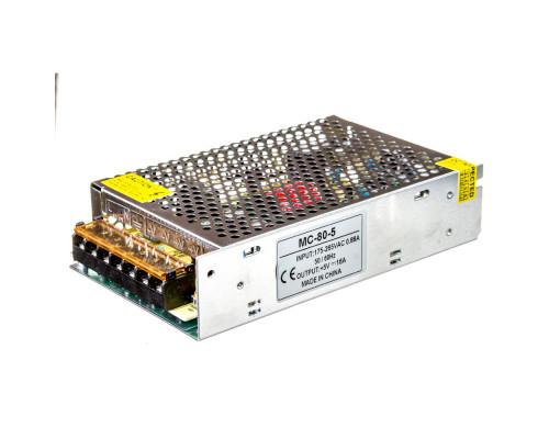 Led блок питания 5V MС/50A 80Bт IP 20