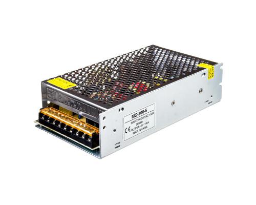 Led блок питания 5V MС/40A 200Bт IP 20