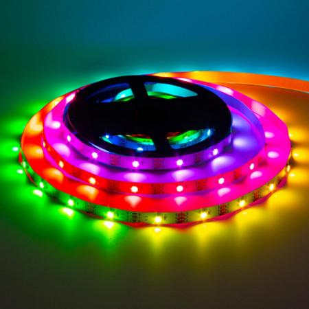 Купить Лента светодиодная адресная AVT 5V smd5050 30LED/m WS2812B IP20, 1м