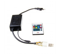 Адаптер питания для ленты светодиодной 220V Multi-Color smd 2835-180 led/м + пульт + контроллер + коннектор 4pin
