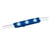 Светодиодный модуль 12В синий 3led smd5730 1.5W IP65
