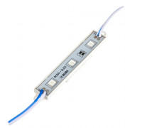 Модуль светодиодный синий 12V smd5050 3LED 0.72W IP65