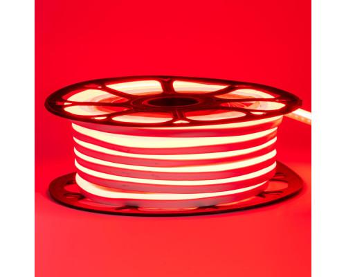 Неоновая светодиодная лента красная AVT-1 220V smd2835 120LED/m 7W/m IP65, 1м