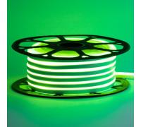 Неоновая светодиодная лента зеленая AVT-1 220V smd2835 120LED/m 7W/m IP65, 1м