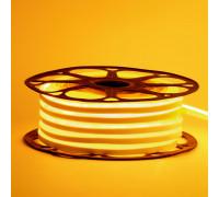 Неоновая светодиодная лента желтая AVT-1 220V smd2835 120LED/m 7W/m IP65, 1м