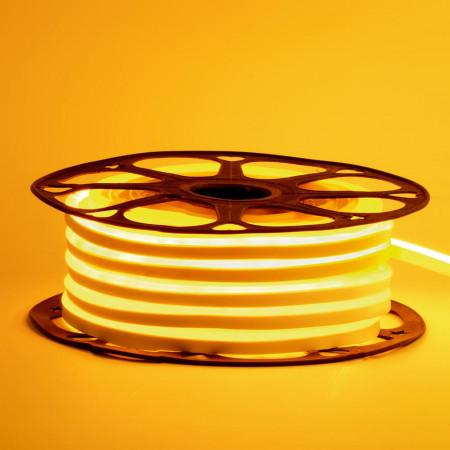 Купить Неоновая светодиодная лента желтая AVT-1 220V smd2835 120LED/m 7W/m IP65, 1м