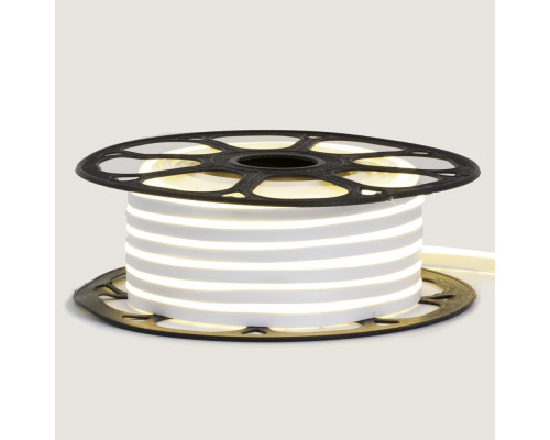 Светодиодный неон 12В белый 6*12mm 120led/m AVT smd2835 6W/m IP65 силикон, 1м