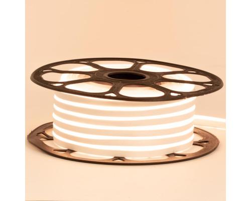 Светодиодный неон 12В белый теплый 6*12mm 120led/m AVT smd2835 6W/m IP65 силикон, 1м