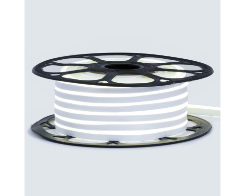Светодиодный неон 12В белый нейтральный 6*12mm 120led/m AVT smd2835 6W/m IP65 силикон, 1м