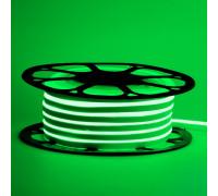 Светодиодный неон 12В зеленый 6*12mm 120led/m AVT smd2835 6W/m IP65 силикон, 1м