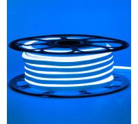 Светодиодный неон 12В синий 6*12mm 120led/m AVT smd2835 6W/m IP65 силикон, 1м