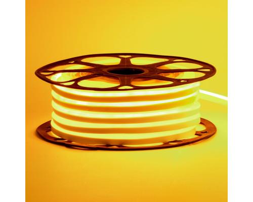 Светодиодный неон 12В желтый 6*12mm 120led/m AVT smd2835 6W/m IP65 силикон, 1м