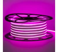 Светодиодный неон 12В розовый 6*12mm 120led/m AVT smd2835 6W/m IP65 силикон, 1м
