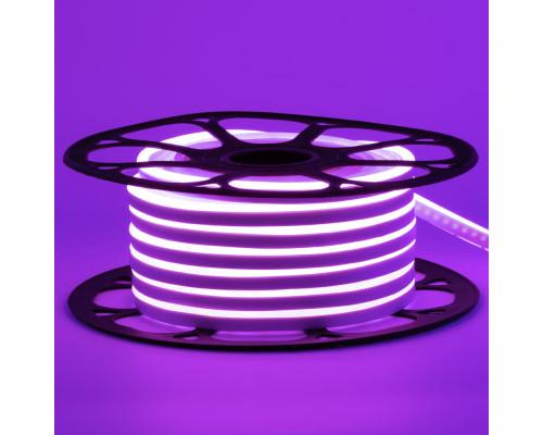 Светодиодный неон 12В фиолетовый 6*12mm 120led/m AVT smd2835 6W/m IP65 силикон, 1м