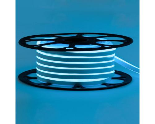 Светодиодный неон 12В голубой 6*12mm 120led/m AVT smd2835 6W/m IP65 силикон, 1м