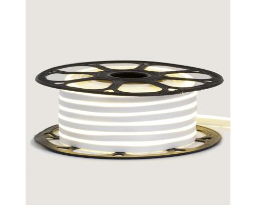 Неоновая светодиодная лента белая 12V smd2835 120LED/m 6W/m pvc 8*16 IP65, 1м