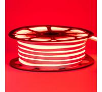 Неоновая светодиодная лента красная 12V smd2835 120LED/m 6W/m pvc 8*16 IP65, 1м
