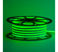 Неоновая светодиодная лента зеленая 12V smd2835 120LED/m 6W/m pvc 8*16 IP65, 1м