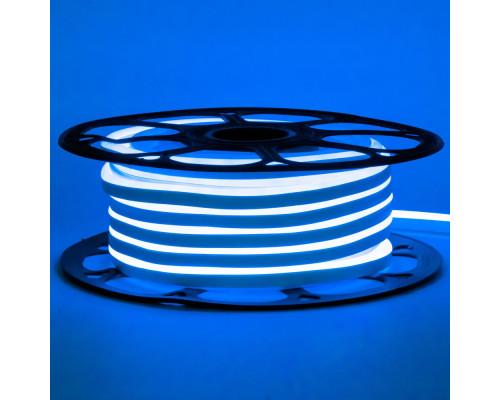 Неоновая светодиодная лента синяя 12V smd2835 120LED/m 6W/m pvc 8*16 IP65, 1м