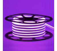 Неоновая светодиодная лента фиолетовая 12V smd2835 120LED/m 6W/m pvc 8*16 IP65, 1м