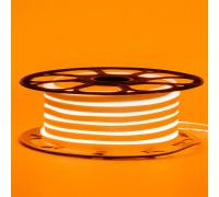 Неоновая светодиодная лента оранжевая 12V smd2835 120LED/m 6W/m pvc 8*16 IP65, 1м