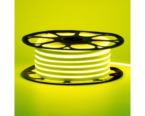 Неоновая светодиодная лента лимонная 12V smd2835 120LED/m 6W/m pvc 8*16 IP65, 1м
