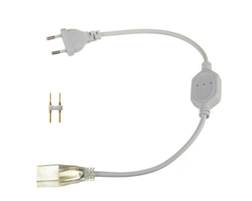 Адаптер питания для неона светодиодного 8*16мм 220V + коннектор 2pin