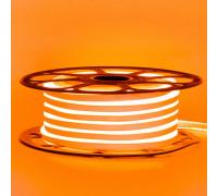 Неоновая светодиодная лента оранжевая AVT-1 220V smd2835 120LED/m 7W/m IP65, 1м