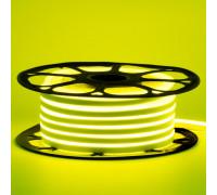 Неоновая светодиодная лента лимонная желтая AVT-1 220V smd2835 120LED/m 7W/m IP65, 1м