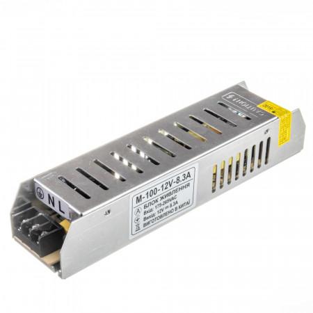 Купить Led блок питания 12V М/8.3A 100Bт IP 20