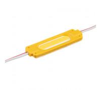 Светодиодный модуль 12В желтый 1led СОВ 2W IP65
