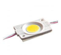 Светодиодный модуль 12В белый теплый 1led СОВ круглый 2,4W IP65