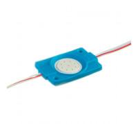Светодиодный модуль 12В синий 1led СОВ круглый 2,4W IP65