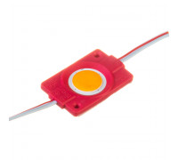 Светодиодный модуль 12В красный 1led СОВ круглый 2,4W IP65