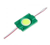 Модуль светодиодный зеленый СОВ 12V 1LED 2.4W круг IP65