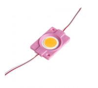 Модуль светодиодный розовый СОВ 12V 1LED 2.4W круг IP65