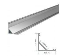 Профиль светодиодный накладной ПФ-9 полуматовый рассеиватель (комплект) 2м
