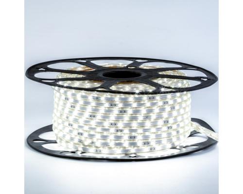 Лента светодиодная белая 220V smd2835 48LED/m 6W/m IP65, 1м