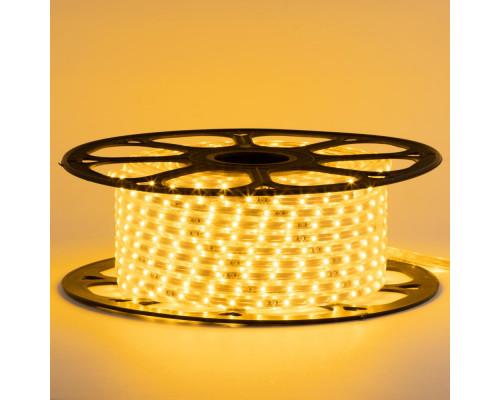 Лента светодиодная желтая 220V smd2835 48LED/m 6W/m IP65, 1м