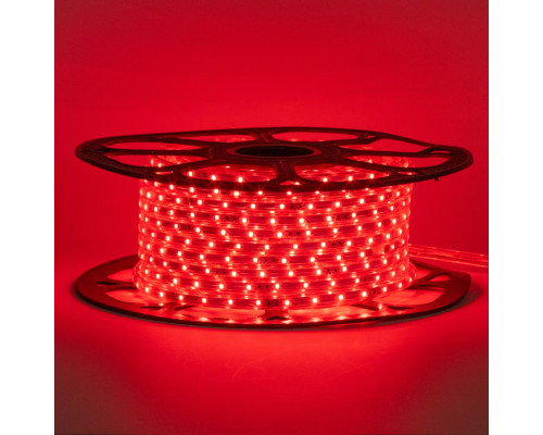 Лента светодиодная красная 220V smd2835 48LED/m 6W/m IP65, 1м