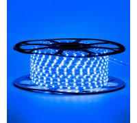 Лента светодиодная синяя 220V smd2835 48LED/m 6W/m IP65, 1м