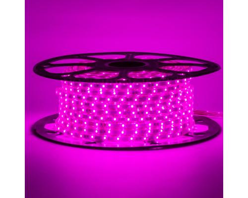 Лента светодиодная фиолетовая 220V smd2835 48LED/m 6W/m IP65, 1м