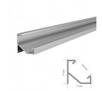 Профиль алюминиевый угловой ПФ-20 рассеиватель (комплект) 2м