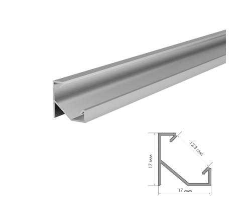 Профиль алюминиевый угловой ПФ-20/1 неанод. + рассеиватель (комплект) 2м