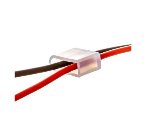 Монтажный комплект для LED неона 12V 6 mm (2 заглушки + 2 провода)