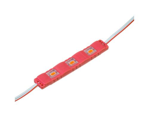 Модуль светодиодный красный 12в smd5730 3LED 1.5Вт герметичный