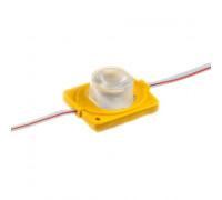 Светодиодный инжекторный модуль 12В желтый 1led smd3030 1.5W IP65