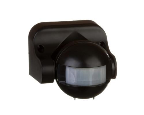 Датчик движения накладной настенный черный 1200Вт 180 град.